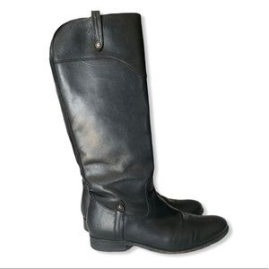 FRYE • Melissa Tall Zip Up Boots Black Size 8